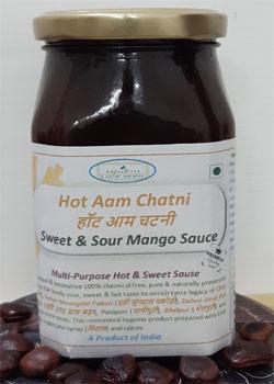 Sweet & Sour Mango Sauce - (हॉट आम चटनी)